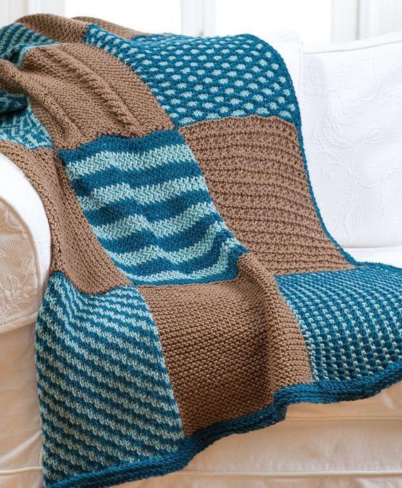 Believe it! Loom knit afghan.
