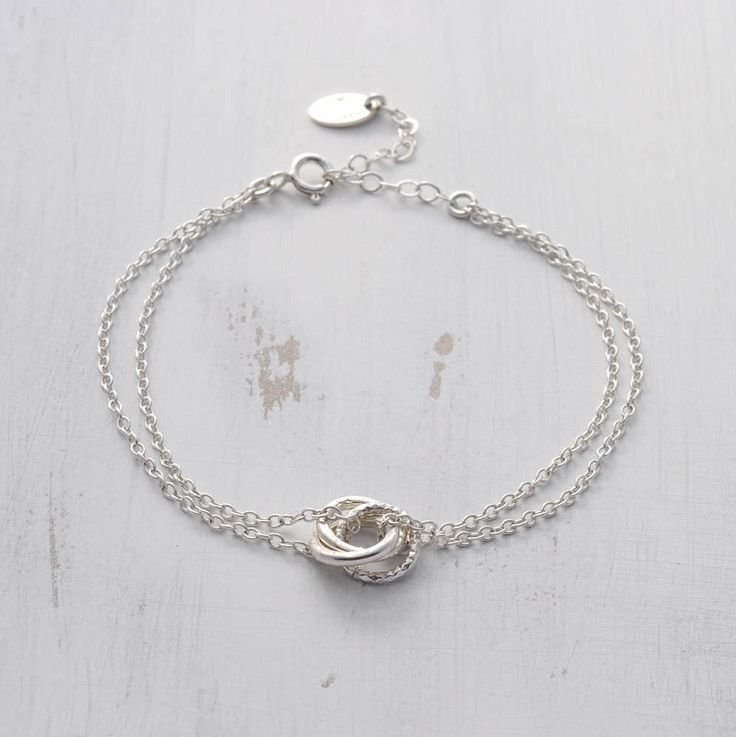 Sterling Silver Russian Ring Bracelet - Linked Circle Bracelet - Eternity Circle Bracelet - Interlocking Bracelet - 30th Birthday Gift by MarionMadeJewellery on Etsy https://www.etsy.com/listing/506031166/sterling-silver-russian-ring-bracelet