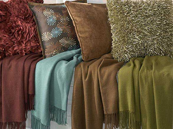 Pillows & Throw Blankets for a quick room makeover.