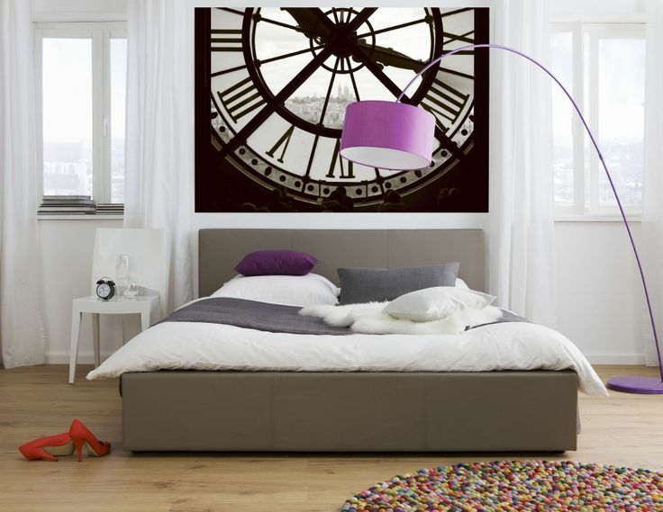 A Modern French Decor Idea With A View Of Paris Wall Mural Moments Wall  Mural   Moments Photomural Radiant Orchic And Black And White Decor  Inspired By ...