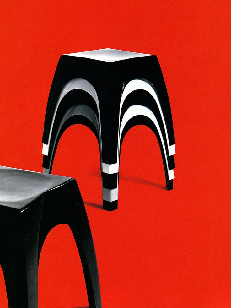 'Lotus' Stool designed by Yki Nummi for Sanka Oy, 1964.