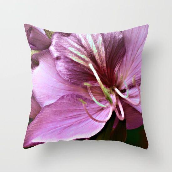 Purple flower(3) Throw Pillow