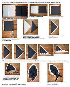 [Fr] Très élégant pliage serviettes en papier [En] So elegant folded napkin.