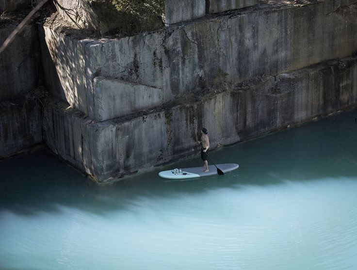 hawaii-native sean yoro, aka hula, traditionally worked with paint on wood panels, until the day he combined his surfboarding skills and creative character, and took the seas in search of street art-style canvasses. http://restreet.altervista.org/sean-yoro-dipinge-sugli-argini-dei-fiumi/