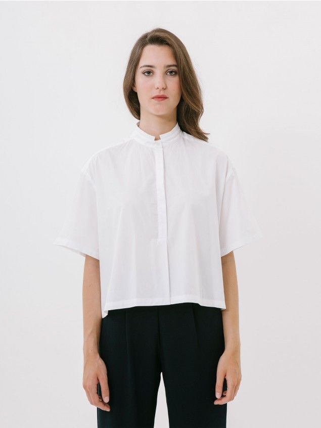 Mao White Blouse //