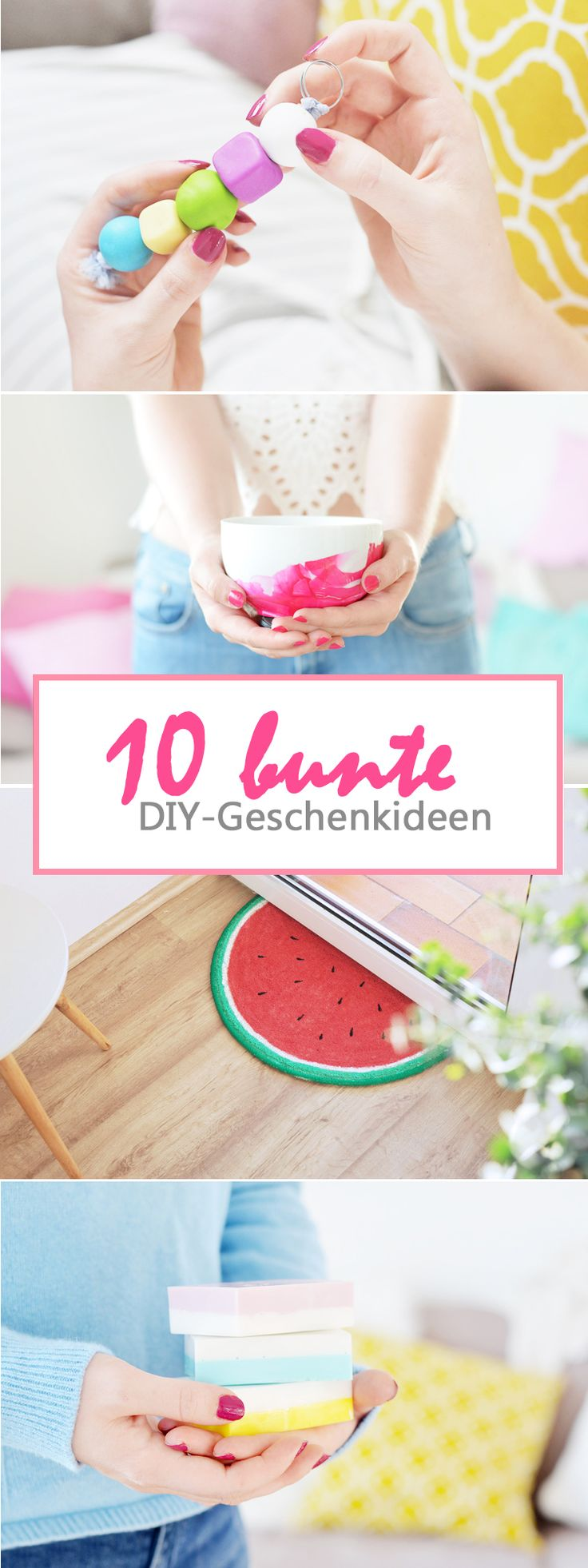10 bunte DIY Geschenkideen für Muttertag: selbstgemachte Geschenke für wenig Geld: https://bonnyundkleid.com/2017/05/diy-bunte-geschenkideen-fuer-muttertag/