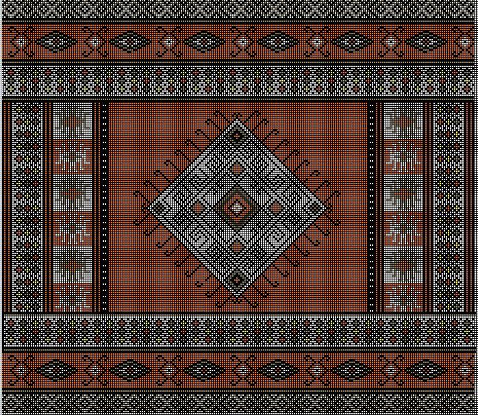 Cojin estilo mapuche