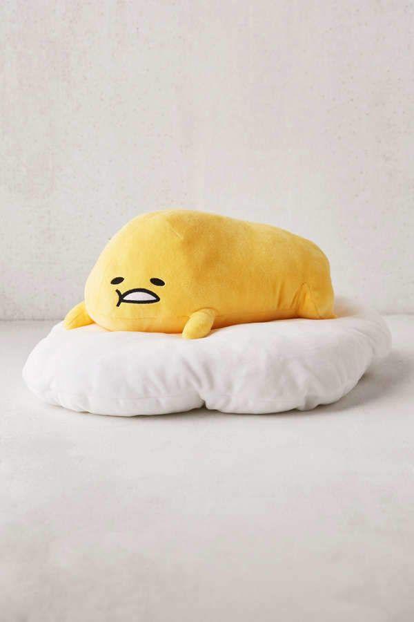 "Large Cute Gudetama Lazy Egg Sitting on Eggshell Plush Doll Toy Cushion 12/"" Gift"