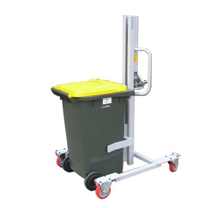Wheelie Bin Lift Trolley, Manual Lift and Manual Push | Spacepac Industries