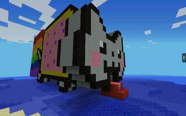 My Nyan Cat house of AWESOMENESS for Minecraft pocket edition. One of my favorite Minecraft PE creations.  Made by FiFiBob5011