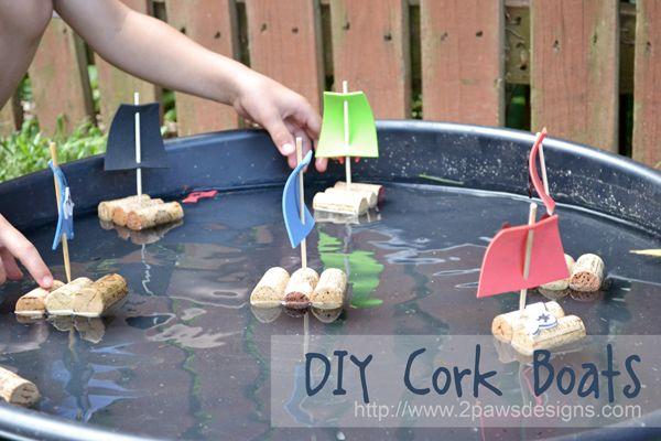 DIY Cork Boats | 2paws Designs