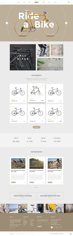 Velo - Stunning Bike Store eCommerce PSD Template - PSD Templates | ThemeForest http://templates.jrstudioweb.com/