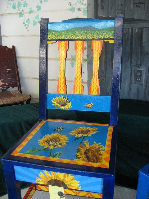 hand painted chairs | hand painted kids chair 407 | deckss.com