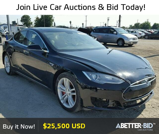 Salvage  2014 TESLA TESLA for Sale - 5YJSA1H15EFP51032 - https://abetter.bid/en/33376237-2014-tesla-model_s