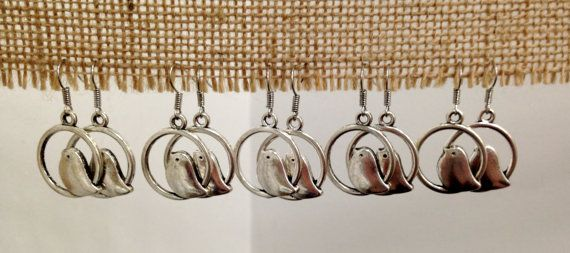 Silver Bird Earrings by SCBoutique123 on Etsy