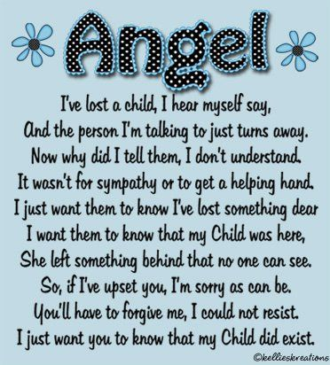 Angel Mom Quote. Miscarriage. Infant loss. Bereavement. Bereaved mothers.  I…