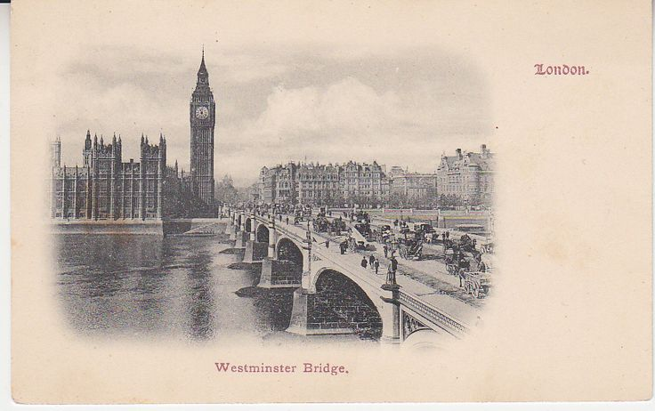 Unknown British Postcard - Westminster Bridge, London   PC02384