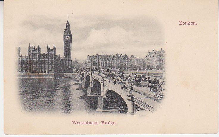 Unknown British Postcard - Westminster Bridge, London | PC02384