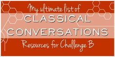 This post may contain affiliate links.  Please see my full disclosure policy for more details. In the Classical Conversations programs, Challenge B would be equivalent to the 8th grade, however any student (I'm talking about myself here) could have a rich year of study in the materials assigned.  There were so many new things to …