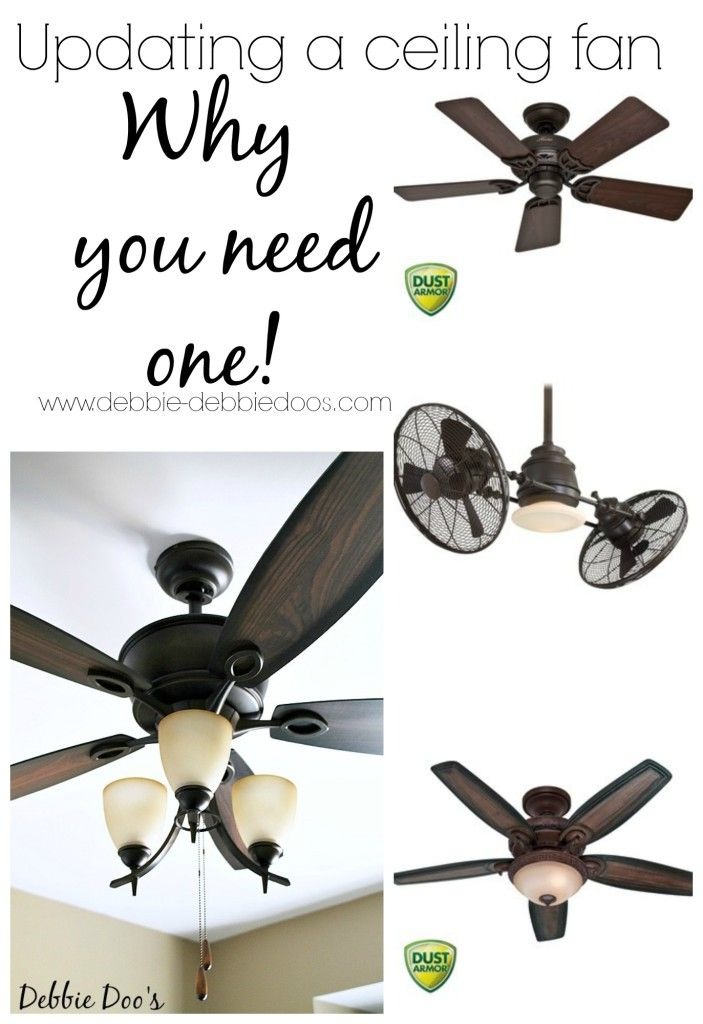 Do you really need a ceiling fan in a room? Updating a ceiling fan. They sure have come a long way. #debbiedoos. Love our new fan!