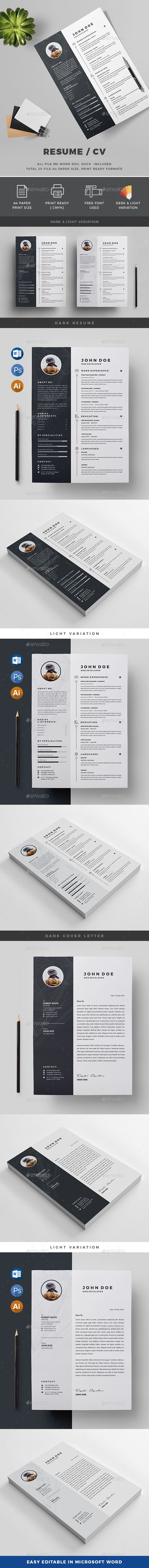 #Resume - Resumes Stationery Download here: https://graphicriver.net/item/resume/20091568?ref=alena994