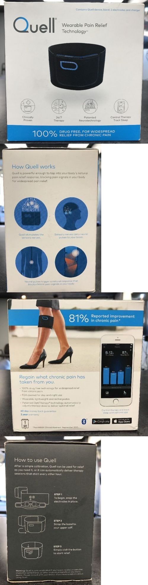 Pain and Fever Relief: Quell Wearable Pain Relief Technology 100% Drug Free, Relief Form Chronic Pain BUY IT NOW ONLY: $208.99