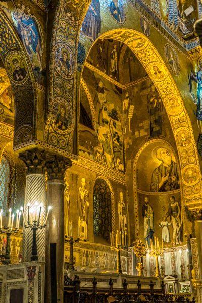 Terkagum-kagum dengan kemegahan Palatine Chapel Palermo.  photo by Francis  Palatine Chapel Palermo, Italy