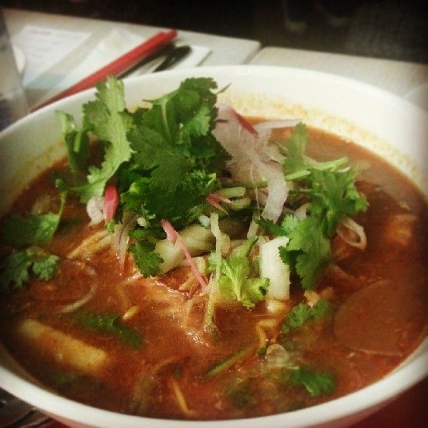 """""""Assam Laksa at #laksasmackdown. Smells delish! Looks and smells authentic!"""" @Wenny Chin. #laksasmackdown at Orient East, Melbourne, Australia"""