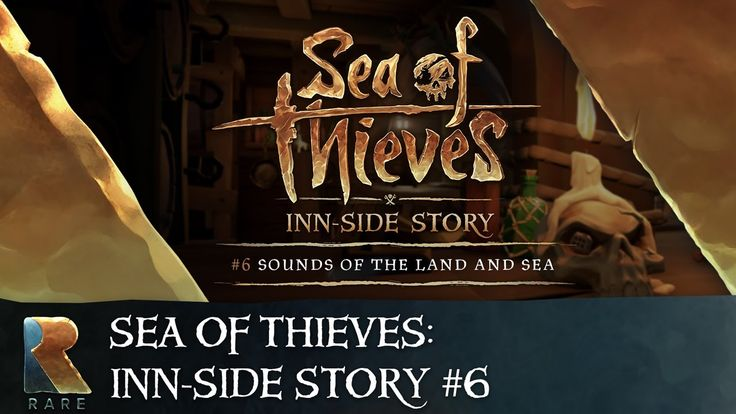 Sea of Thieves Inn-side Story #6: Sounds of the Land and Sea - YouTube | Rare Sound Designers Guillaume and Jamie discuss the art of larger-than-life audio in Sea of Thieves. Find out where turf, tape and tissues come into it, see a man stamping a skeletal foot into some dirt and watch the audio team larking about in their personal pool. Visit the official game site at https://www.seaofthieves.com #Gaming #VideoGames #Pirates #XboxOne #Microsoft #Rare #GamesArt #VideoGamesArt #Music…