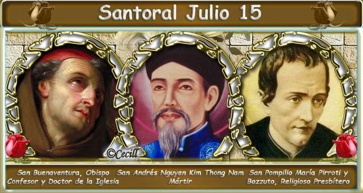 Vidas Santas: Santoral Julio 15