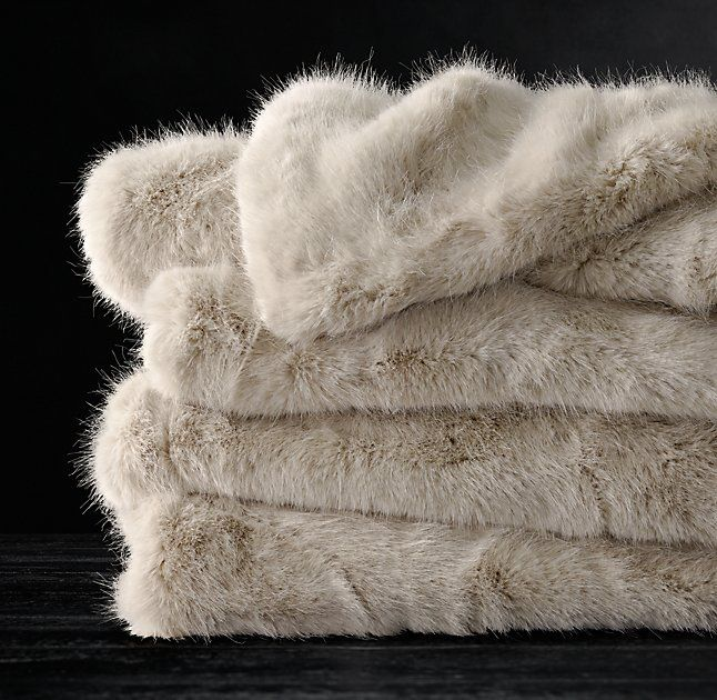 Ultra Faux Fur Throw Dune Restoration Hardware Bedroom