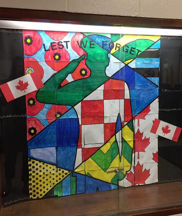 A unique and inspiring Remembrance Day art project for kids. Students will love being part of this Canadian Remembrance Day art project as each one participates in the final design!