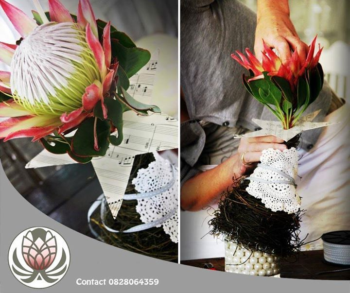 What do you think of this Protea Christmas tree idea? You could use its as a centrepiece, decor or even as a gift! #lifestyle #flowers #festiveseason