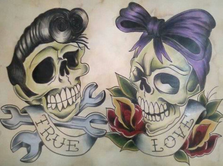 rockabilly tattoos rockabilly life pinterest so cute chris d 39 elia and couple. Black Bedroom Furniture Sets. Home Design Ideas