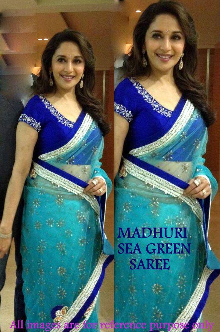 Madhuri Dixit Green Saree 34796