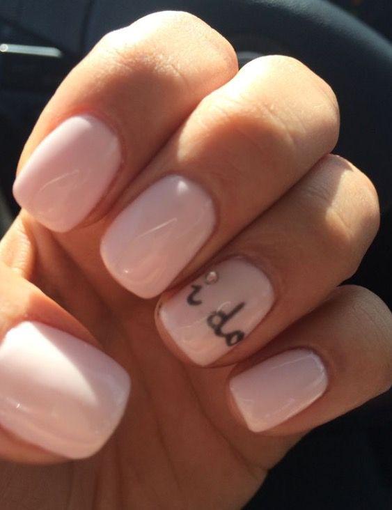 How sweet are these wedding nails? #IDo #Wedding #WeddingNails #BrideNails