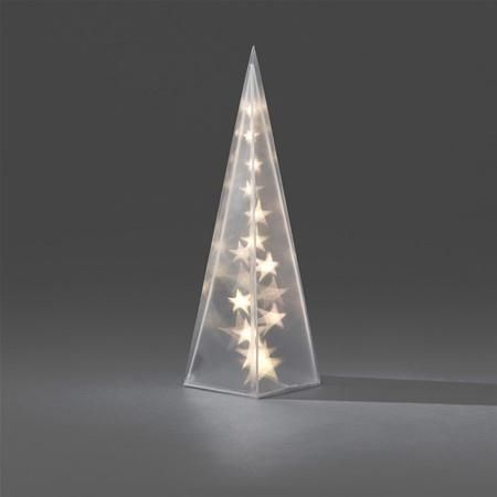 Konstsmide 2598-103 Small LED Christmas Star Light Pyramid