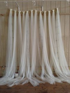 50th Wedding Tulle Backdrop | My Country Rustic Pinterest Wedding