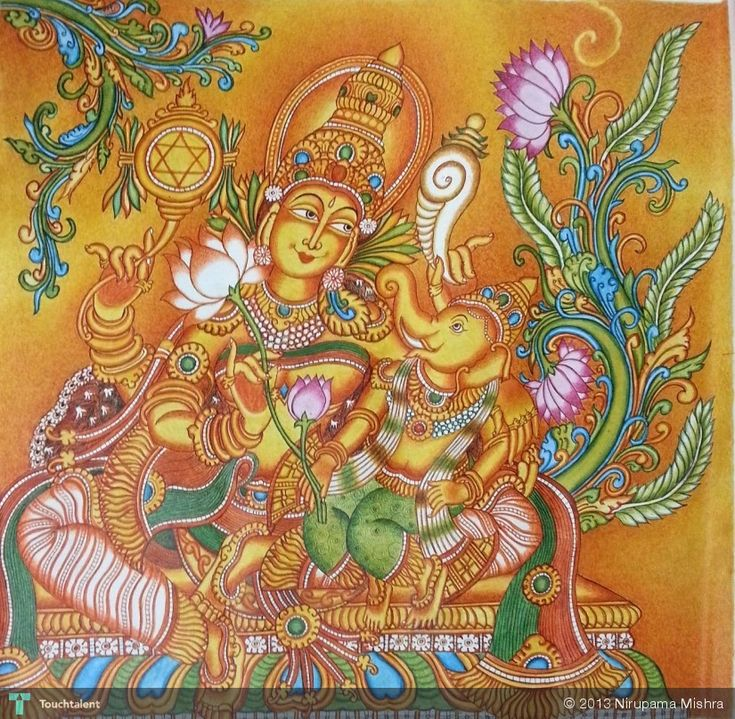 17 best images about kerala murals 4 on pinterest for Mural art of ganesha