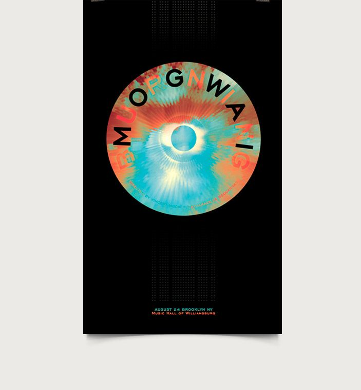 Mogwai - Burning / Poster Competition Submission : 340 x 564mm - CMYK