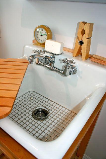 Vintage Laundry Room Sink : Utility sink from Kohler.