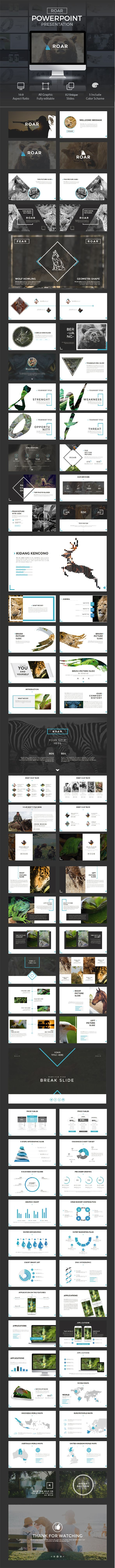 ROAR Presentation Template — Powerpoint PPTX #1920x1080 #entrepreneur • Download ➝ https://graphicriver.net/item/roar-presentation-template/18801498?ref=pxcr