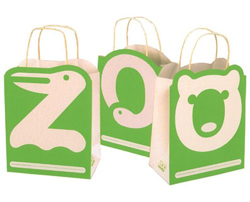 Irina Blok's packaging design for the SF ZOO. They make me want to buy three things to get the three bags to display together!