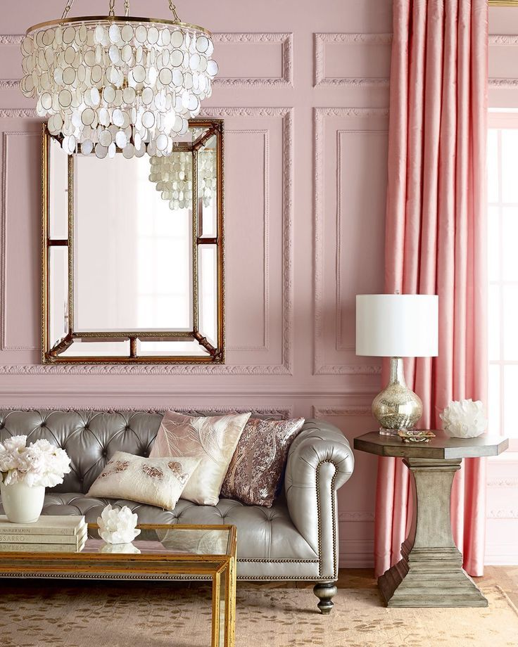 blush-toned living room