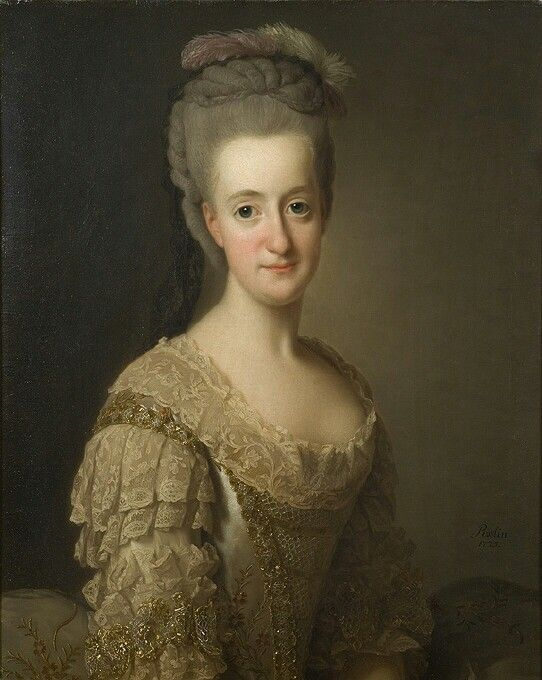 Sofia Albertina, 1753-1829, prinsessa av Sverige, abedissa i Quedlinburg, 1775.   Olja på duk, Nationalmuseum.