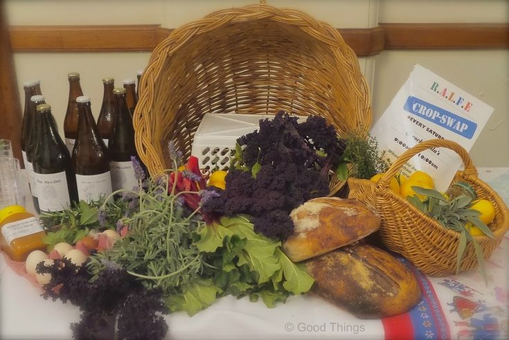 Basket of produce for the Robertson Crop Swap