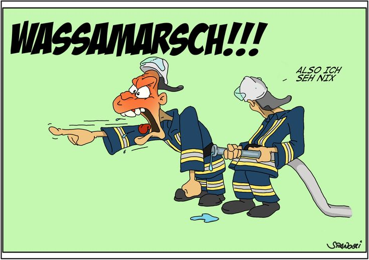 Cartoons 2014 | Feuerwehr lustig, Lustige cartoons, Lustig