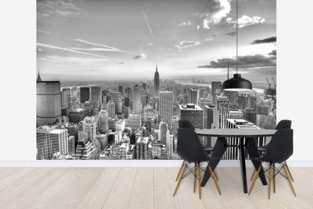New York City 2   B/w   Wall Mural Photo Wallpaper   Photowall | Murales New  York | Pinterest | Photo Wallpaper, Wall Murals And Wallpaper