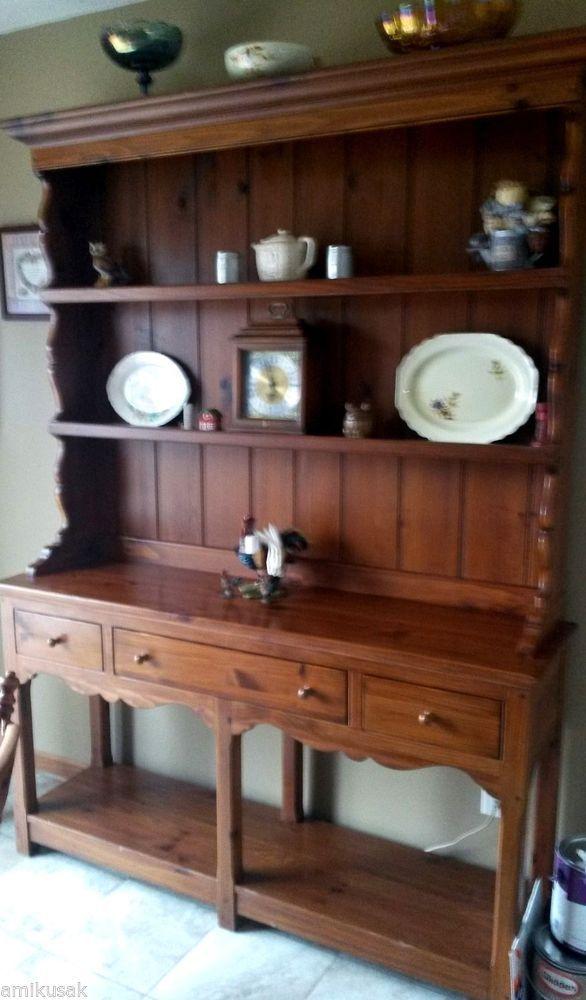 Ethan Allen Open Buffet Hutch Cabinet~Cupboard~Maple~Very HTF Style!  Heirloom