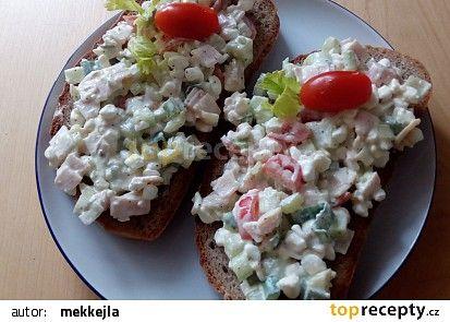 Pomazánka s cottage,šunkou a zeleninou recept - TopRecepty.cz